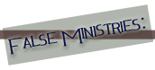 FalseMinistries